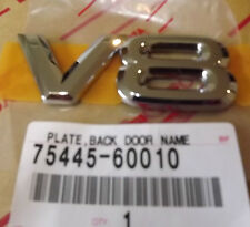 "TOYOTA LANDCRUISER ""V8"" BADGE/EMBLEM BRAND NEW AND GENUINE"