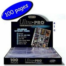 Ultra-Pro 9 Pocket Pages Platinum Series Multi-Hole - Box Of 100