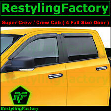 04-08 Ford F150 Crew Cab Smoke Tint 4pcs Window Visor Rain Sun Guard Super Crew