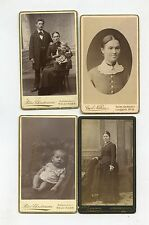 CDV Card,Vintage Photo,Lot of 4, All from Denmark