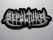 SEPULTURA  OLD LOGO SHAPED    EMBROIDERED PATCH