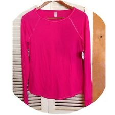 Women's NWT Flirtitude Long Sleeve Top w/ Metallic Stitching S RED MSRP $48 NEW!