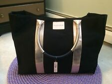 Victoria's Secret Black w/Rose Gold Trim Accents LIMITED EDITION Tote Bag NWT
