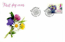 Finland 2017 FDC Summer Flowers 1v S/A Set Cover Plants Nature Stamps