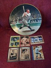 """""""BABE RUTH"""" Limited Edition MEMORABILIA: """"COLLECTOR"""" PLATE and """"BASEBALL CARDS"""""""