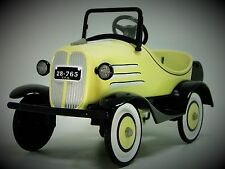 1930s Pedal Car Ford A Yellow Hot T Rod Rare Vintage Sport Midget Metal Model