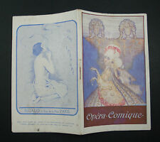 DOCUMENT PROGRAMME THEATRE NATIONAL OPERA COMIQUE CARMEN 1920 SPECTACLE OLD