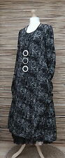 LAGENLOOK*AMAZING STUNNING QUIRKY A-LINE 2 POCKETS  LONG DRESS*BLACK*SIZE S
