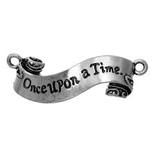 Once Upon a Time Scroll Charm Pendant - Connector -  45x15mm (Qty x 2)