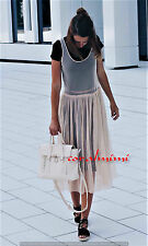 ZARA NEW PALE PINK GATHERED TULLE LONG DRESS SIZE S