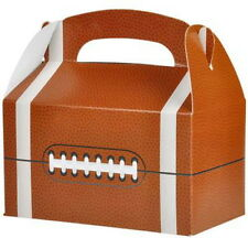 24 FOOTBALL PARTY TREAT BOXES FAVORS GOODY BAG BAZAAR PRIZE GIFT BASKET CARNIVAL