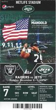 2013 NFL OAKLAND RAIDERS @ NEW YORK JETS FULL UNUSED FOOTBALL TICKET