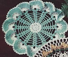 Vintage Crochet PATTERN to make Sea Shell Edging Ruffled Doily Mat Centerpiece