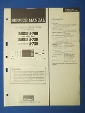 SANSUI A-700 A-730 CLASSIQUE SERVICE MANUAL ORIGINAL FACTORY ISSUE REAL THING