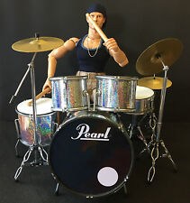 "CUSTOM 12"" 1/6 FIGURE & PEARL DRUM KIT VERY HOT TOY DRAGON BBI SIDESHOW ENTERBAY"