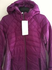 LULULEMON TEVI Purple LTWT 800 Fill Goose Down For A Run Hooded Jacket Sz 12 New