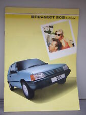Peugeot 205 - 3-Door Colour Brochure 1985