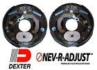 """2- 10"""" Dexter 3500 Nev-R-Adjust Electric Trailer Brake Never Adjust Pair"""