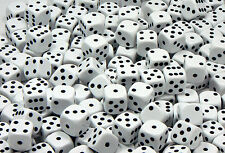 14mm White Dice - Pack of 20 Dice - D6 RPG