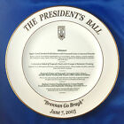 "Jonathan Club Los Angeles The President's Ball 2003 Event Dinner Menu 12"" Plate"
