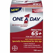6 Pack One A Day ProActive 65+ For Men & Women Multivitamin 150 Tablets Each