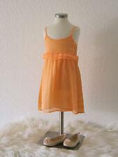 °ZARA° frisches leichtes Kleid Sommerkleid 2-3Y 98 neon orange  NEU