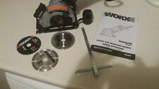 Worx 400W Worxsaw Circular Plunge Saw Laser Brand new sealed. 3 X mixed Blades