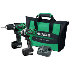Hitachi A.KC10DFL-R Recon 12V Lithium-ion Driver Drill, Impact Driver Combo Kit
