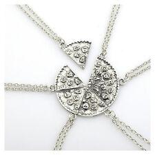 6pcs Halsketten Partner Anhänger Herz Kette Edelstahl Necklace Freunde Neu