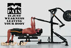 Vinyl Decal Sticker body fitness gym motivational wall quote crossfit workout #5