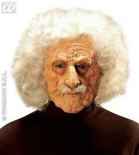 Old Man Albert Einstein Mask Wig & Moustache Professor Scientist Fancy Dress