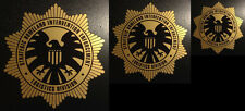 "SHIELD 2"" 3"" & 4"" SET OF 3 GOLD FOIL STAR PROP DECAL MARVEL AVENGERS IRON MAN"