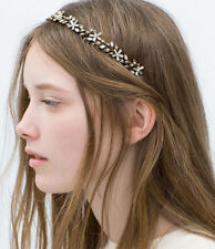 ZARA CRYSTAL FLOWER HAIRBAND HEADBAND BRIDAL TIARA RARE & SOLD OUT