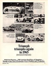 1966 TRIUMPH TR-4 / TR-4A / SPITFIRE / TR-3  ~  NICE ORIGINAL PRINT AD