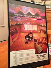 "BIG 11X17 FRAMED ORIGINAL ""ODYSSEY"" LONDON ENGLAND RECORDING STUDIO PROMO AD"