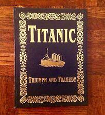 TITANIC TRIUMPH TRAGEDY JOHN EATON C HAAS WHITE STAR LINE EASTON PRESS LEATHER ~