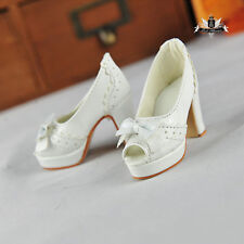 1/3 BJD Shoes Dollfie EID MID DOD SOOM AOD DZ sandals Shoes SD White High heeled