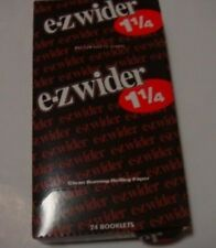 6 Packs- EZ WIDER 1 1/4 Cigarette Rolling Papers,blunts,wrap,glass,smoking pipe.