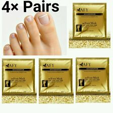 4×Pairs 24k Gold Foot Peeling Mask Cuticle Callus Dead Skin Dry Skin Exfoliating