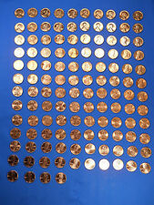 Lincoln Cent Penny Set 1953-2016 Compl Collection BU Wheat Memorial Bicen Shield
