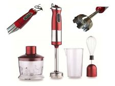 750W Red Hand Blender Food Mixer Processor 4 in 1 Whisk Egg Beater Easy Clean