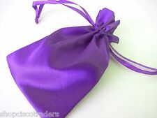 Purple Satin Drawstring Pouch Jewelry Bag 4.5x7in QTY1 A053-1 Wedding Party