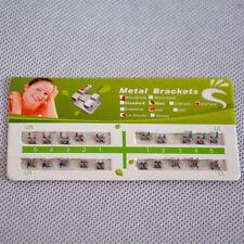1Packs Dental Metal Teeth Bracket Braces Mini Roth 022 345 With Hooks