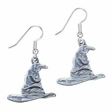 Official Harry Potter Silver Plated Sorting Hat Drop Earrings - Branded Gift
