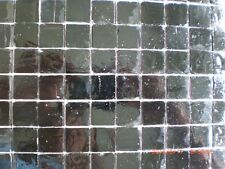 20 x 20 mm Mosaic Solid Black Vitreous Glass Mosaic 3 mm thick - 50 Tiles
