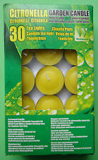 Citronella Candles - Pack Of 30 Candles - Windproof Wick - Longer Burning Time