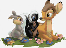 Bambi & Friends Counted Cross Stitch Kit Disney, Free 1st class Recorded post