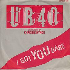 45TRS VINYL 7''/ GERMAN SP UB 40 / CHRISSIE HYNDE / I GOT YOU BABE