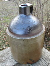 Rare PRICE & LUCAS Fine SAUCES & CATSUPS Stoneware SCRATCH Jug - LOUISVILLE, KY