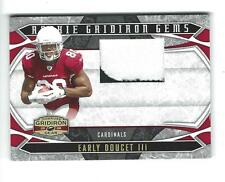 2008 Gridiron Gear #212 Early Doucet Rookie PATCH Cardinals 22/50